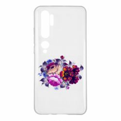 Чехол для Xiaomi Mi Note 10 Flowers in a cold shade