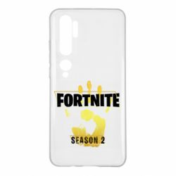 Чехол для Xiaomi Mi Note 10 Fortnite season 2 gold