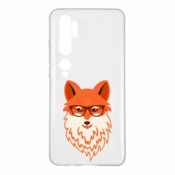 Чехол для Xiaomi Mi Note 10 Fox with a mole in the form of a heart