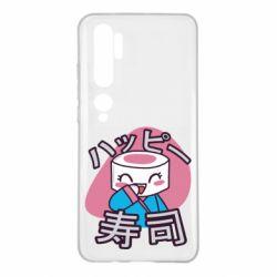 Чехол для Xiaomi Mi Note 10 Funny sushi