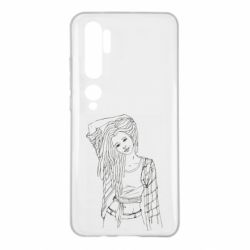 Чехол для Xiaomi Mi Note 10 Girl with dreadlocks