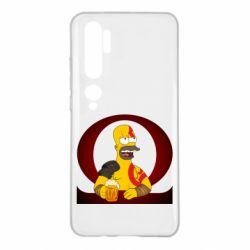 Чехол для Xiaomi Mi Note 10 God of war: Simpson