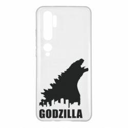Чехол для Xiaomi Mi Note 10 Godzilla and city