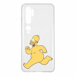 Чехол для Xiaomi Mi Note 10 Голый Гомер Симпсон