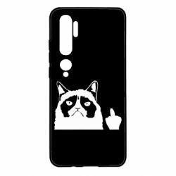 Чохол для Xiaomi Mi Note 10 Grumpy cat F**k Off