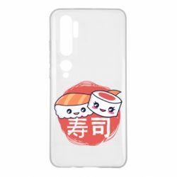Чехол для Xiaomi Mi Note 10 Happy sushi