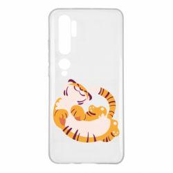 Чехол для Xiaomi Mi Note 10 Happy tiger