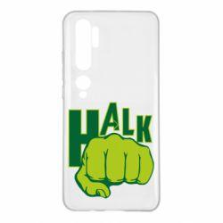 Чехол для Xiaomi Mi Note 10 Hulk fist