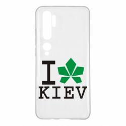 Чехол для Xiaomi Mi Note 10 I love Kiev - с листиком