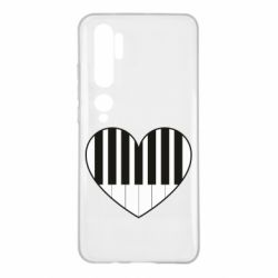 Чехол для Xiaomi Mi Note 10 I love piano