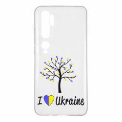 Чехол для Xiaomi Mi Note 10 I love Ukraine дерево