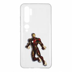 Чехол для Xiaomi Mi Note 10 Iron man with the shadow of the lines