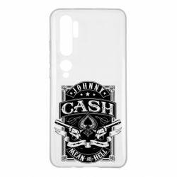 Чохол для Xiaomi Mi Note 10 Johnny cash mean as hell