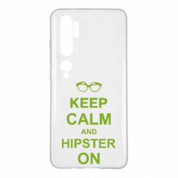 Чехол для Xiaomi Mi Note 10 Keep calm an hipster on