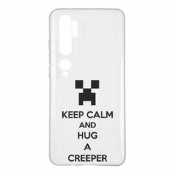 Чехол для Xiaomi Mi Note 10 KEEP CALM and HUG A CREEPER