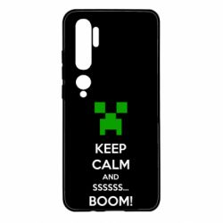 Чехол для Xiaomi Mi Note 10 Keep calm and ssssssss...BOOM!