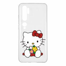 Чехол для Xiaomi Mi Note 10 Kitty с букетиком