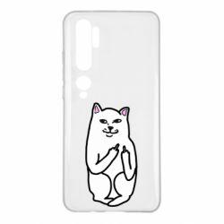 Чехол для Xiaomi Mi Note 10 Кот с факом