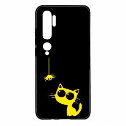 Чехол для Xiaomi Mi Note 10 Котик и паук