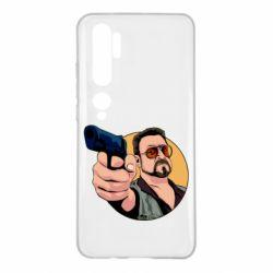 Чохол для Xiaomi Mi Note 10 Лебовськи з пістолетом