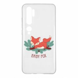 Чехол для Xiaomi Mi Note 10 Лесная семейка. Лисенок