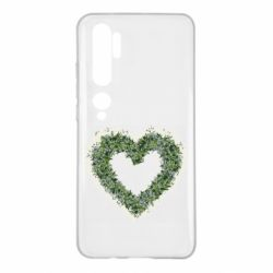 Чехол для Xiaomi Mi Note 10 Lilies of the valley in the shape of a heart