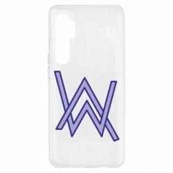 Чехол для Xiaomi Mi Note 10 Lite Alan Walker neon logo