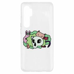 Чехол для Xiaomi Mi Note 10 Lite Animals and skull in the bushes
