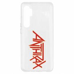 Чехол для Xiaomi Mi Note 10 Lite Anthrax red logo