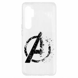 Чехол для Xiaomi Mi Note 10 Lite Avengers logotype destruction