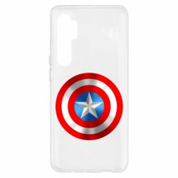 Чехол для Xiaomi Mi Note 10 Lite Captain America 3D Shield