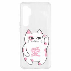 Чехол для Xiaomi Mi Note 10 Lite Cat and hieroglyphs