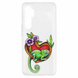 Чехол для Xiaomi Mi Note 10 Lite Chameleon on a branch