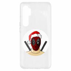 Чехол для Xiaomi Mi Note 10 Lite Deadpool in New Year's hat