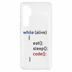Чехол для Xiaomi Mi Note 10 Lite Eat, Sleep, Code