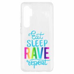 Чохол для Xiaomi Mi Note 10 Lite Eat, sleep, RAVE, repeat