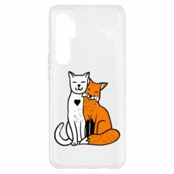 Чохол для Xiaomi Mi Note 10 Lite Fox and cat heart