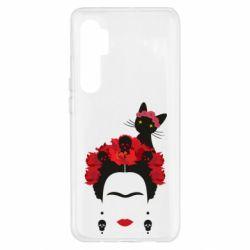 Чехол для Xiaomi Mi Note 10 Lite Frida Kalo and cat