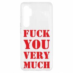 Чехол для Xiaomi Mi Note 10 Lite Fuck you very much