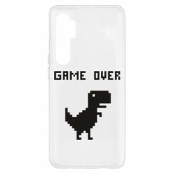 Чехол для Xiaomi Mi Note 10 Lite Game over dino from browser