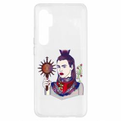 Чехол для Xiaomi Mi Note 10 Lite Girl with a crown and a flower on a beard