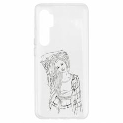 Чехол для Xiaomi Mi Note 10 Lite Girl with dreadlocks