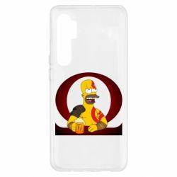 Чехол для Xiaomi Mi Note 10 Lite God of war: Simpson