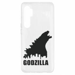 Чехол для Xiaomi Mi Note 10 Lite Godzilla and city