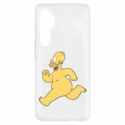 Чехол для Xiaomi Mi Note 10 Lite Голый Гомер Симпсон
