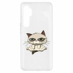 Чохол для Xiaomi Mi Note 10 Lite Grumpy Cat Art nope