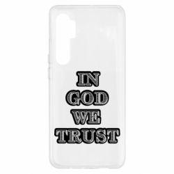 Чехол для Xiaomi Mi Note 10 Lite In god we trust
