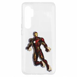 Чехол для Xiaomi Mi Note 10 Lite Iron man with the shadow of the lines