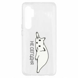 Чехол для Xiaomi Mi Note 10 Lite Кот и надпись Не сегодня