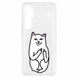Чехол для Xiaomi Mi Note 10 Lite Кот с факом